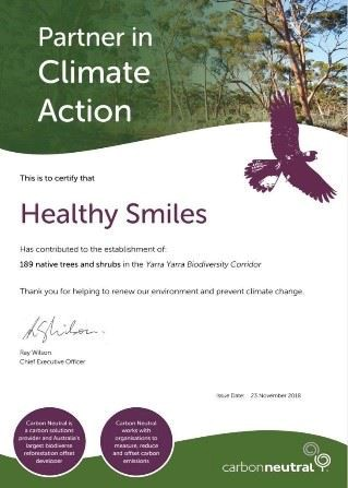 Healthy Smiles - Partner in Climate Action